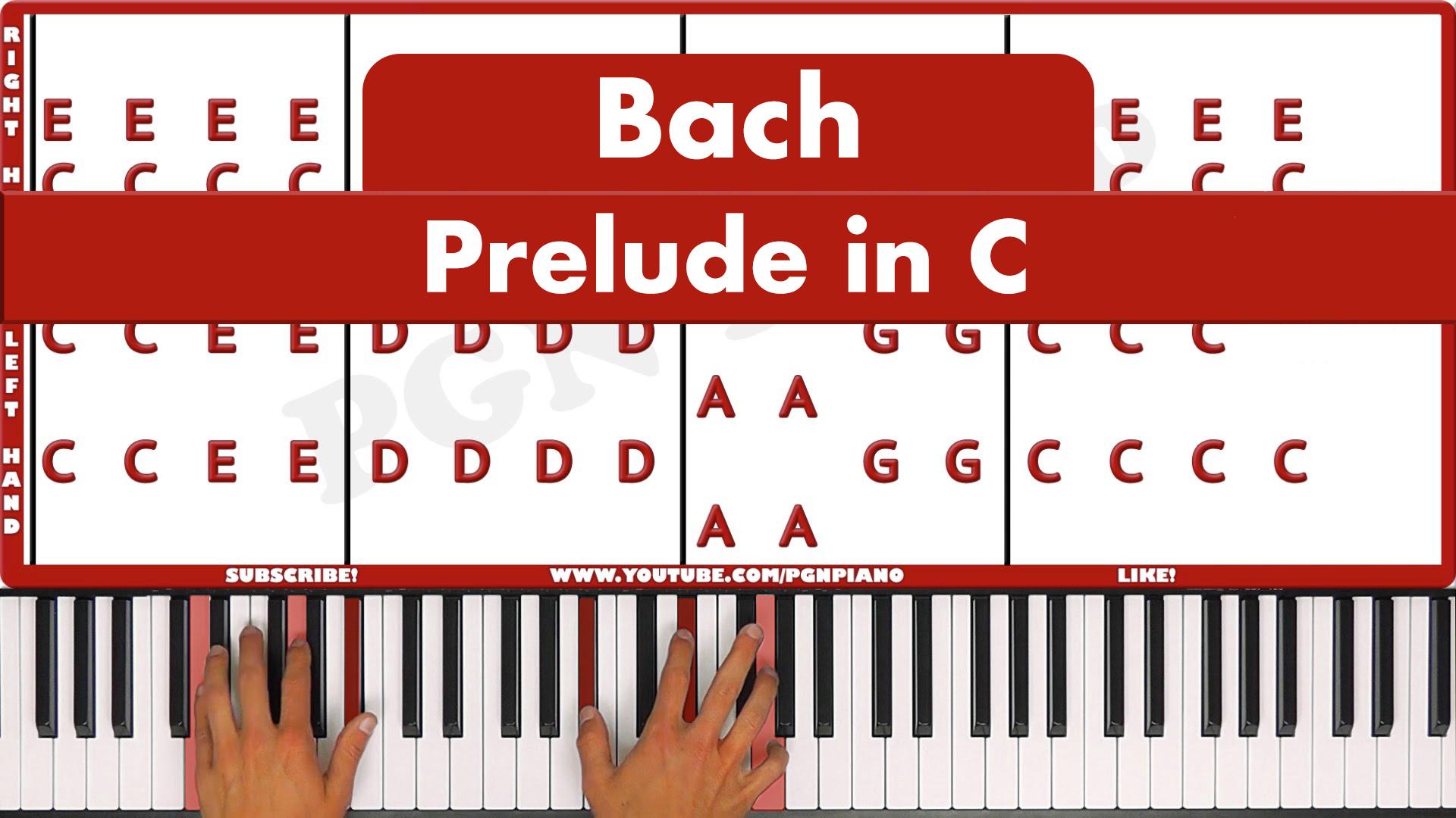 Bach – Prelude In C – Original