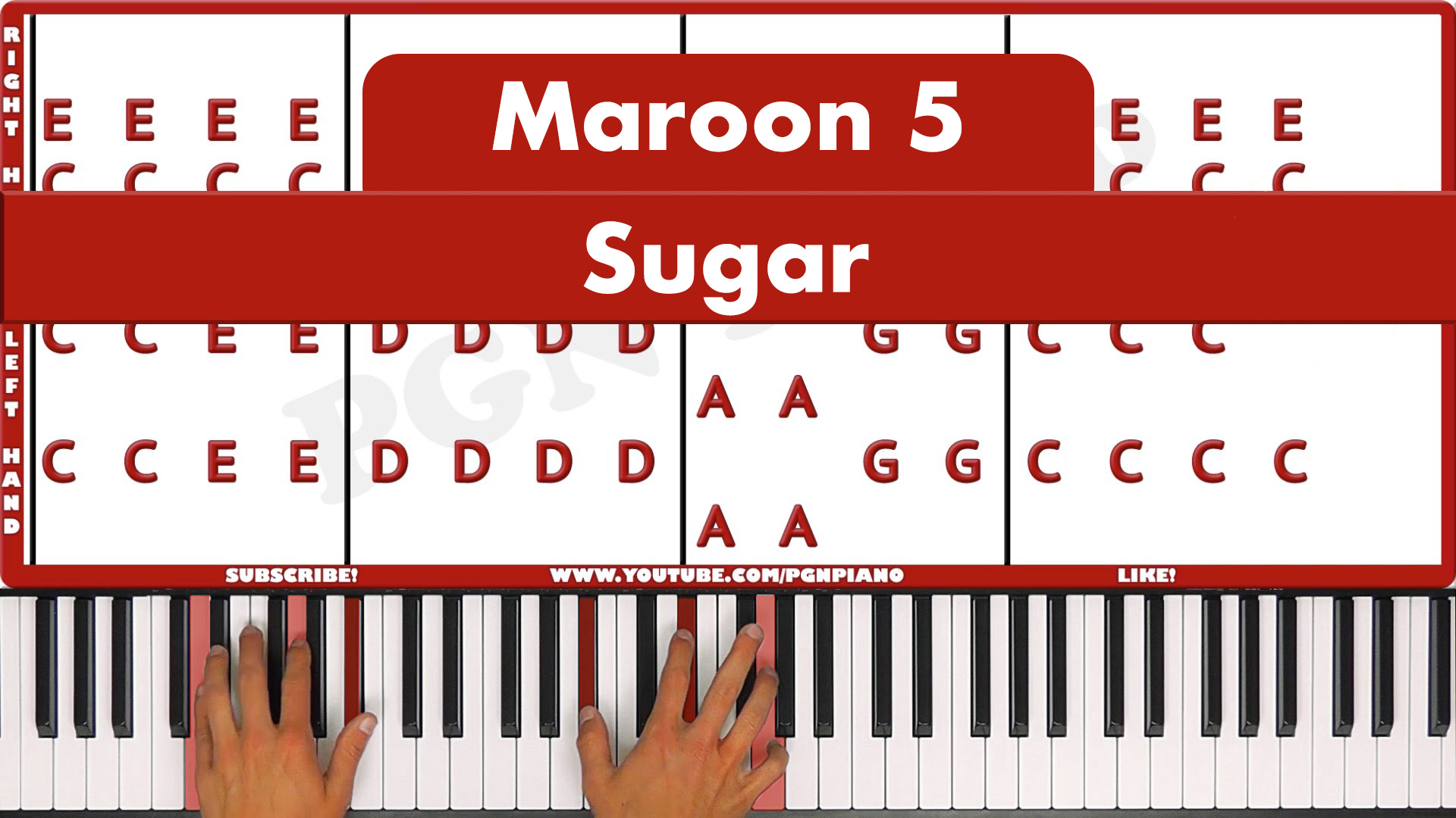 Maroon 5 – Sugar – Easy