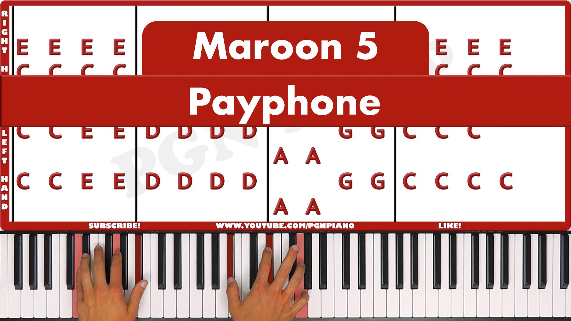 Maroon 5 – Payphone – Easy