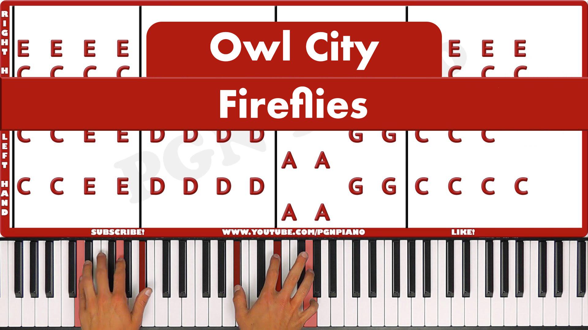 Owl City – Fireflies – Easy