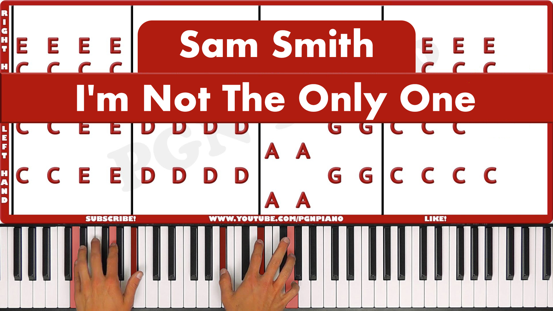 Sam Smith – I'm Not The Only One – Vocal