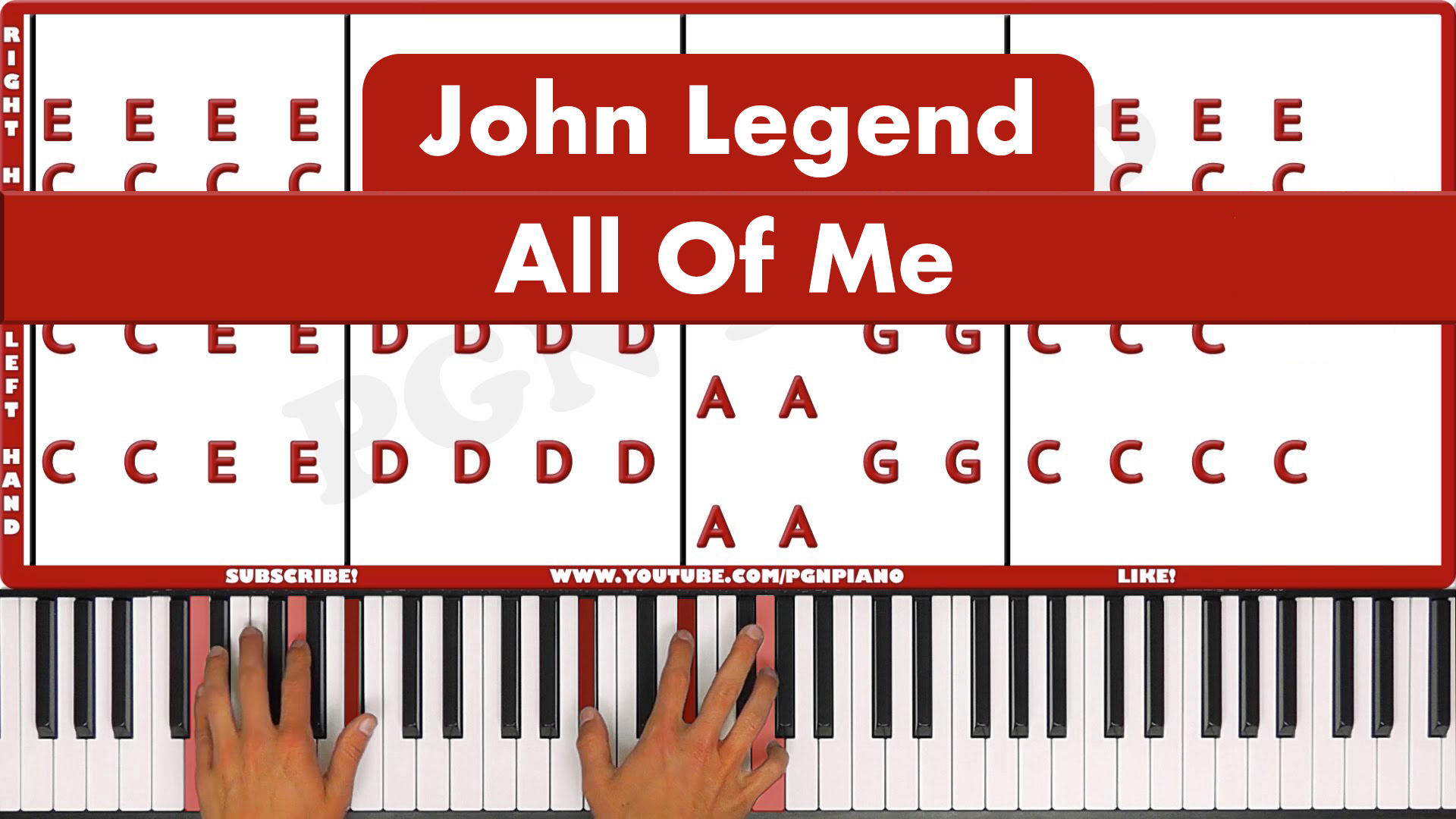 John Legend – All Of Me – Vocal