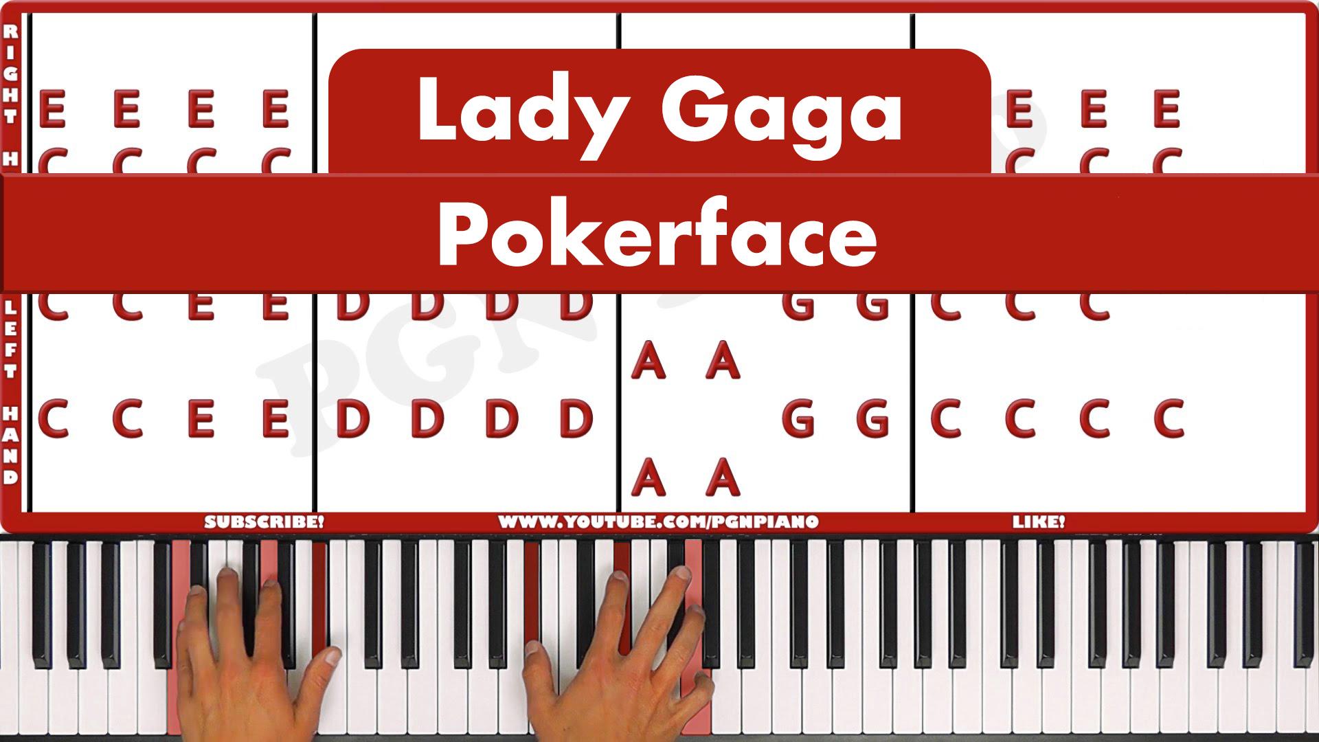 Lady Gaga – Pokerface – Easy