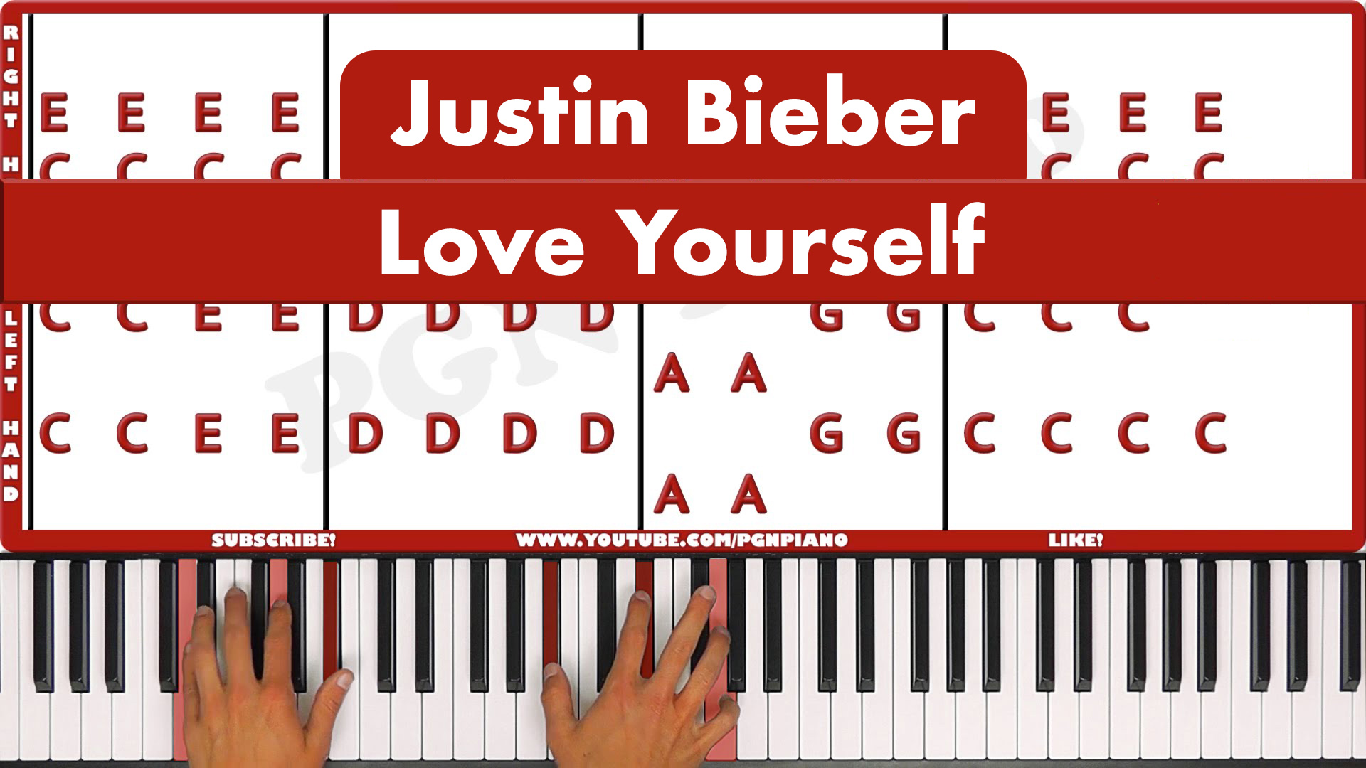 Justin Bieber – Love Yourself – Easy