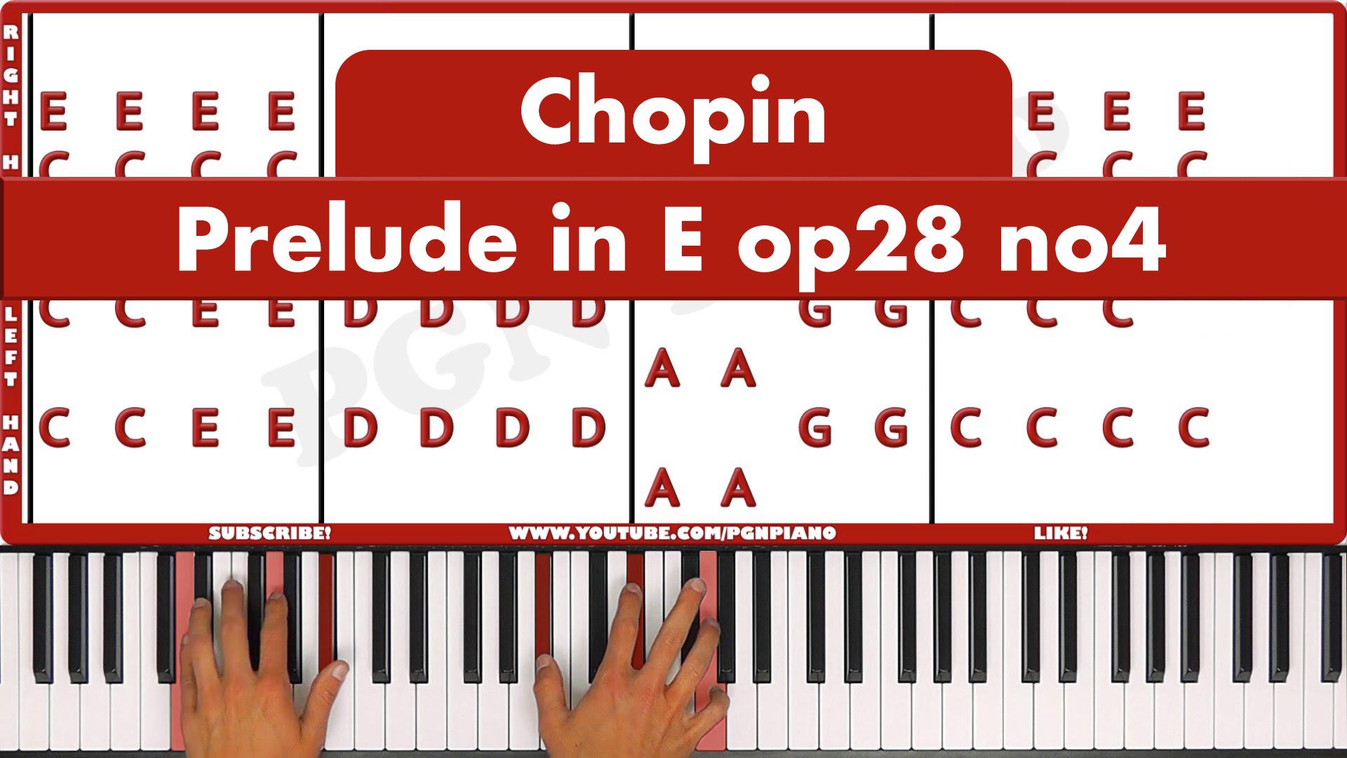 Chopin – Prelude in E Minor op28 no.4 – Original