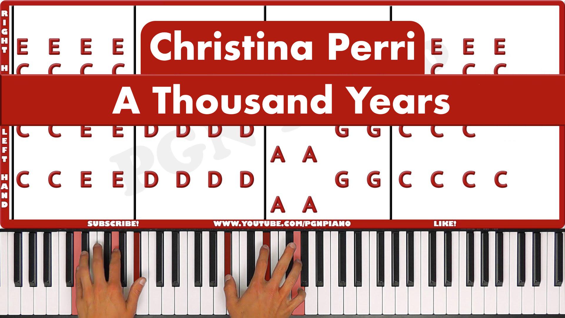 Christina Perri – A Thousand Years – Vocal