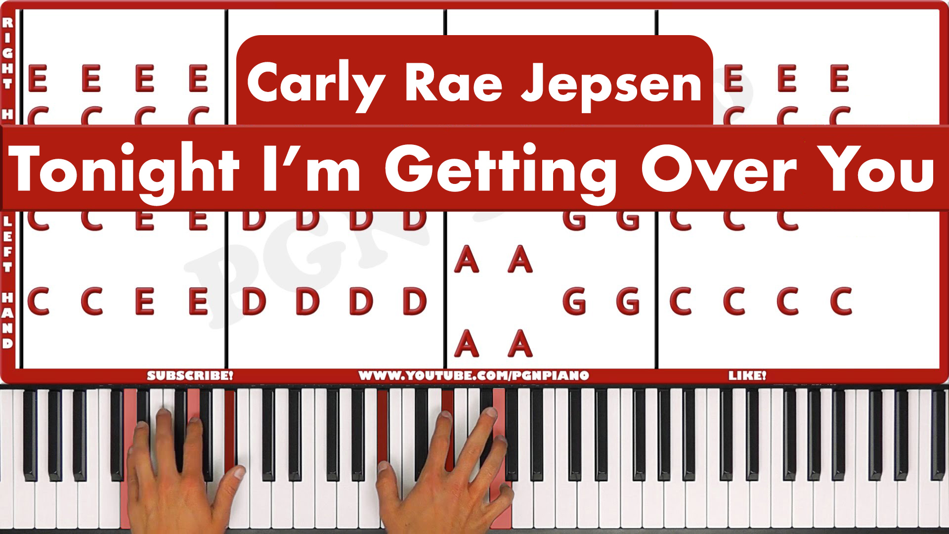 Carly Rae Jepsen – Tonight I'm Getting Over You – Easy
