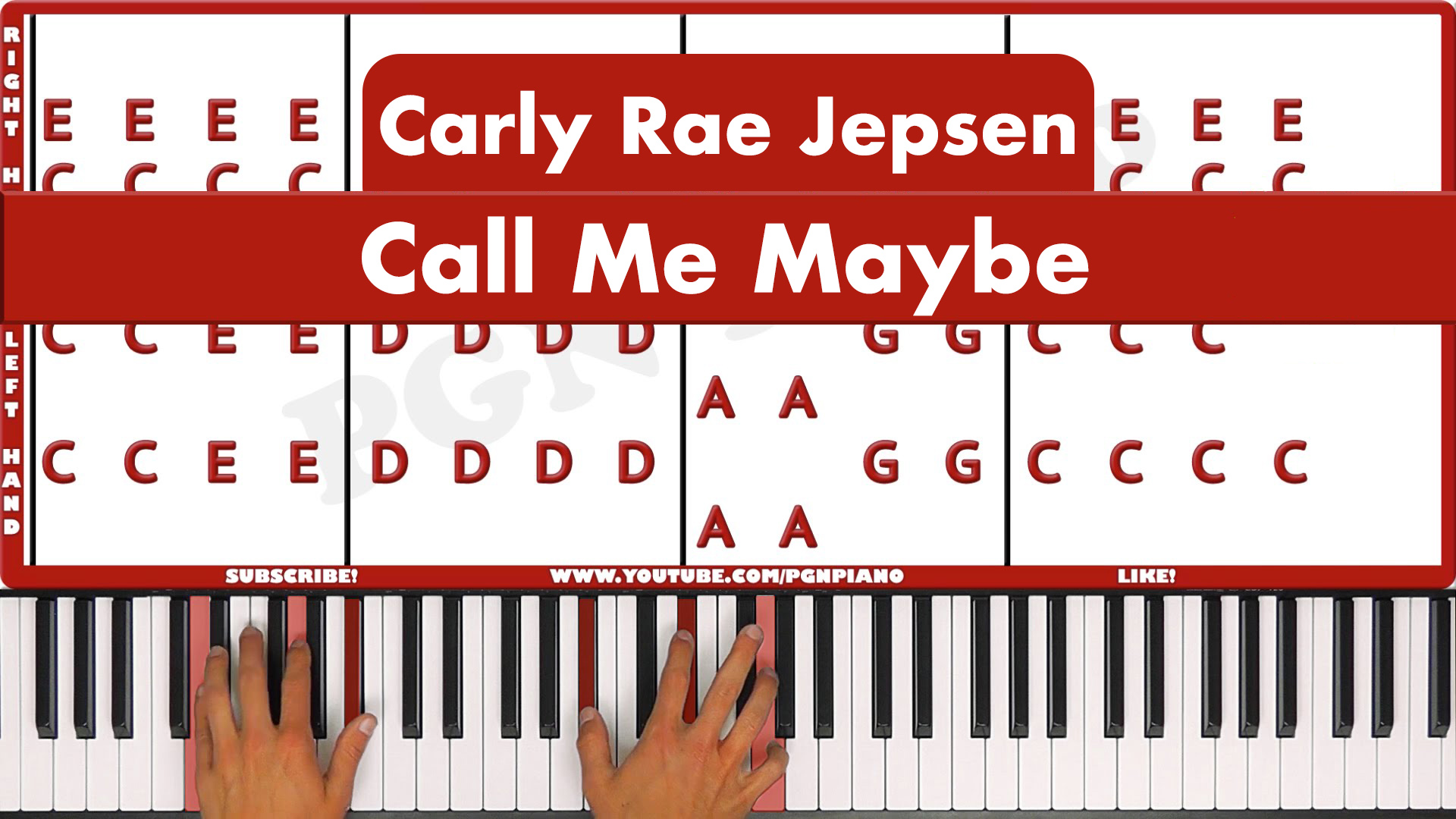 Carly Rae Jepsen – Call Me Maybe – Easy