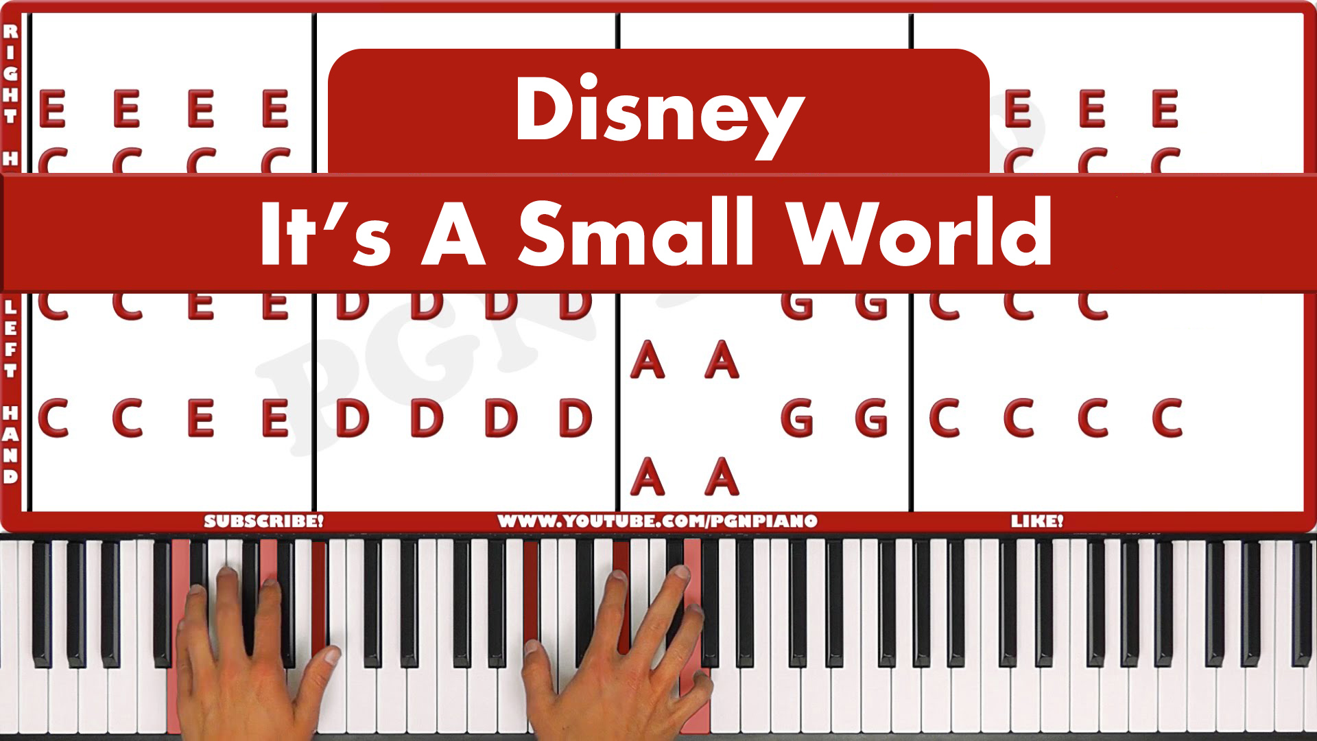 Disney – It's A Small World – Vocal