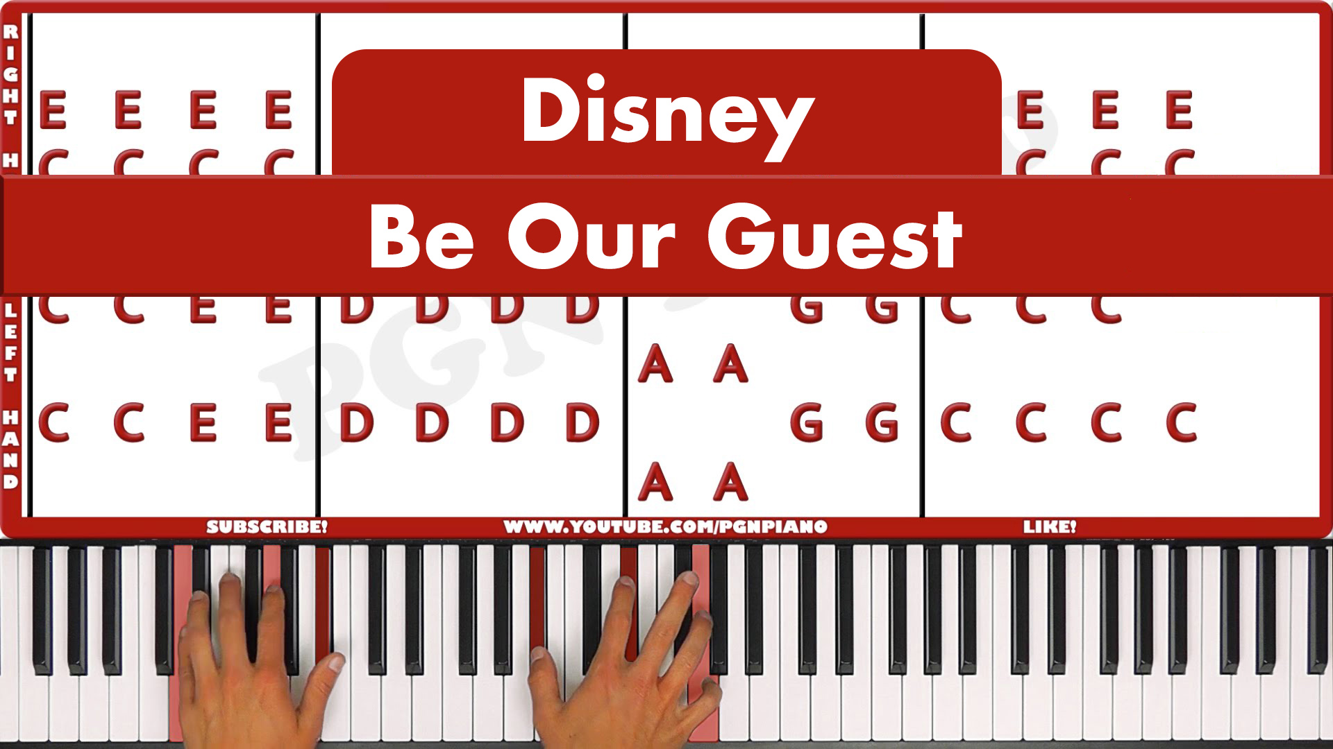 Disney – Be Our Guest – Vocal
