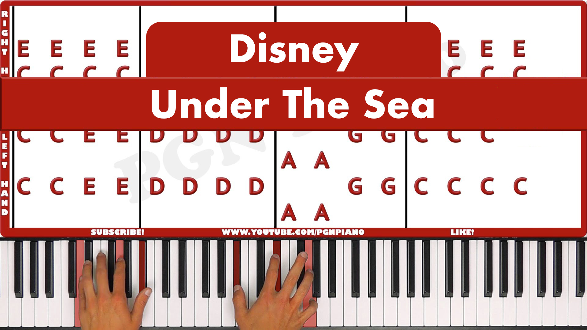 Disney – Under The Sea – Vocal