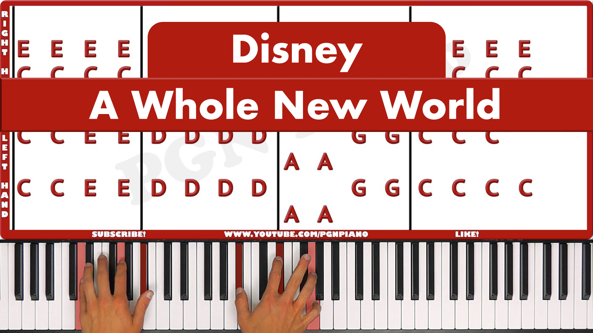 Disney – A Whole New World – Vocal
