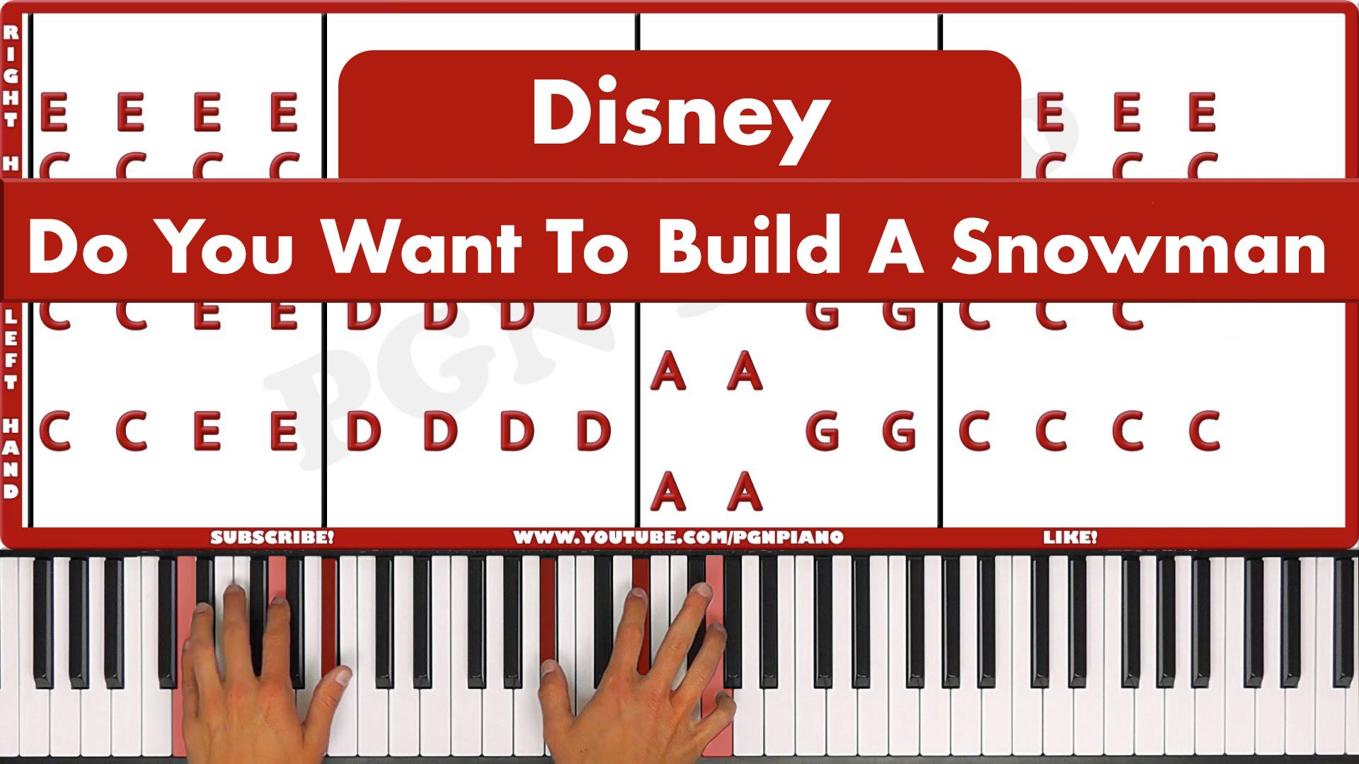 Frozen – Do You Want To Build A Snowman – Vocal