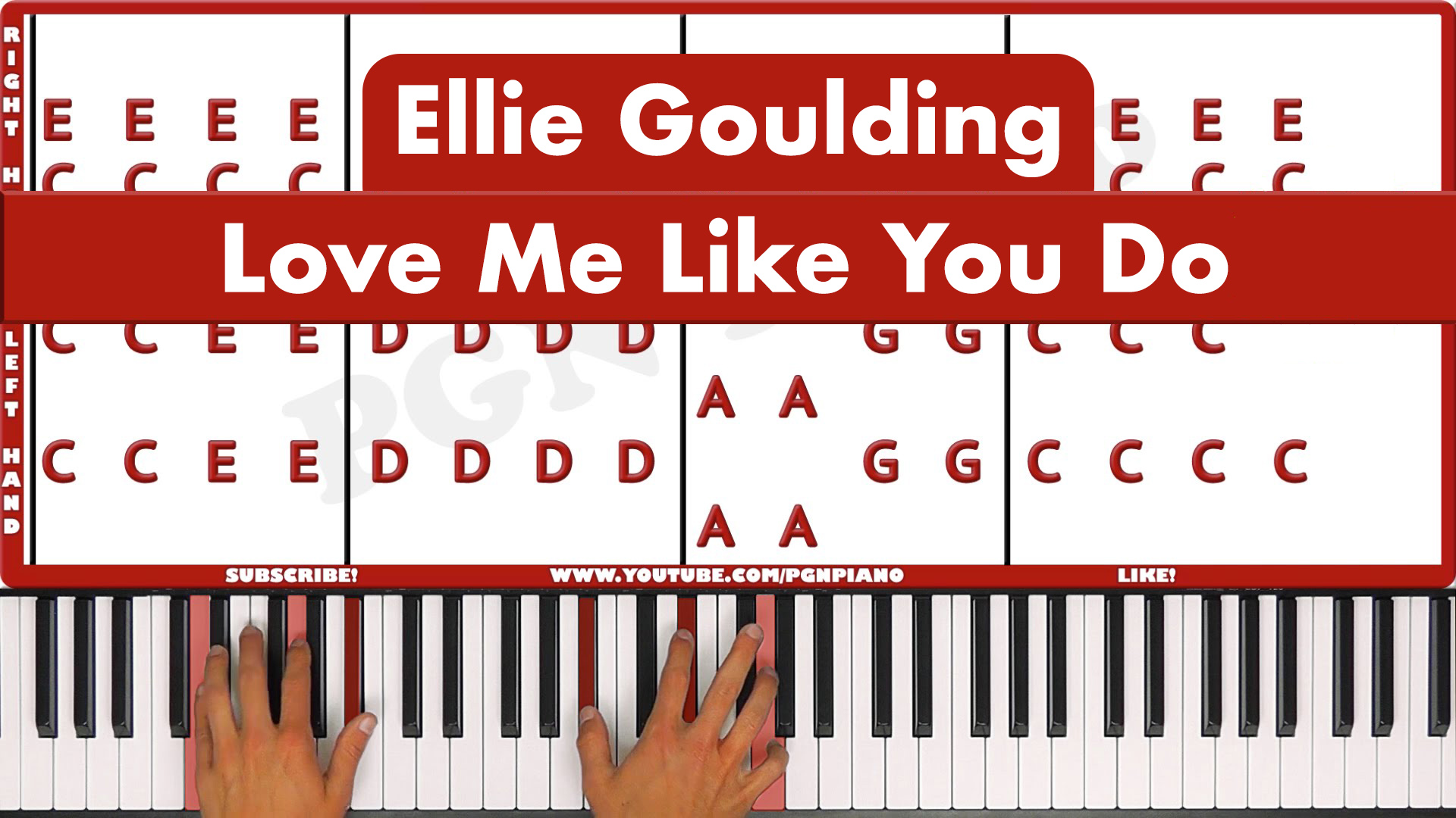 Ellie Goulding – Love Me Like You Do – Easy