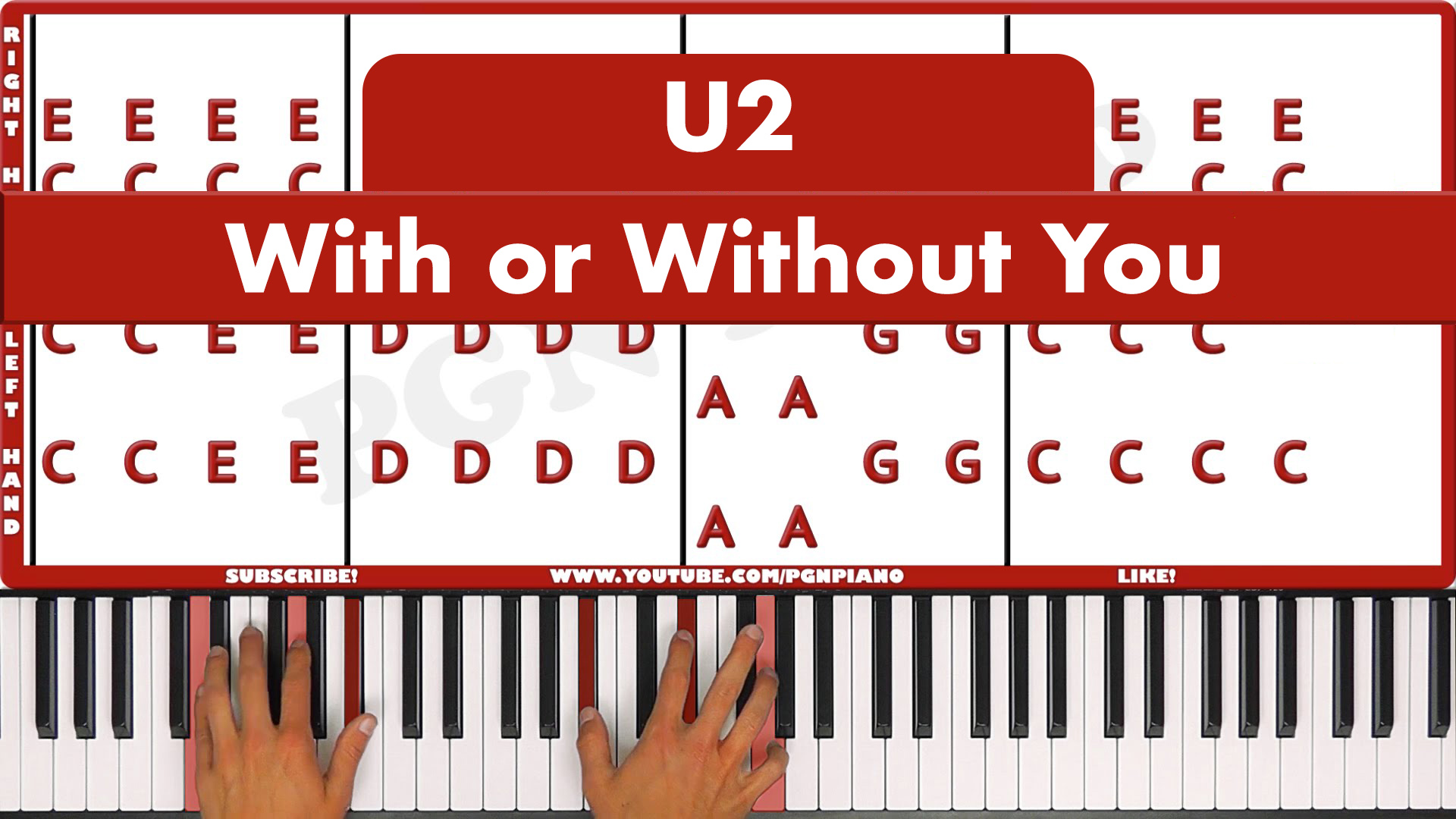 U2 – With Or Without You – Easy