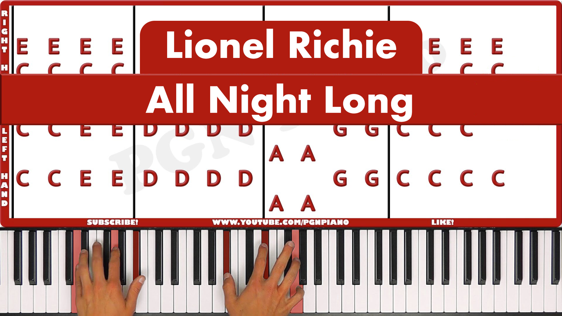 Lionel Richie – All Night Long – Easy