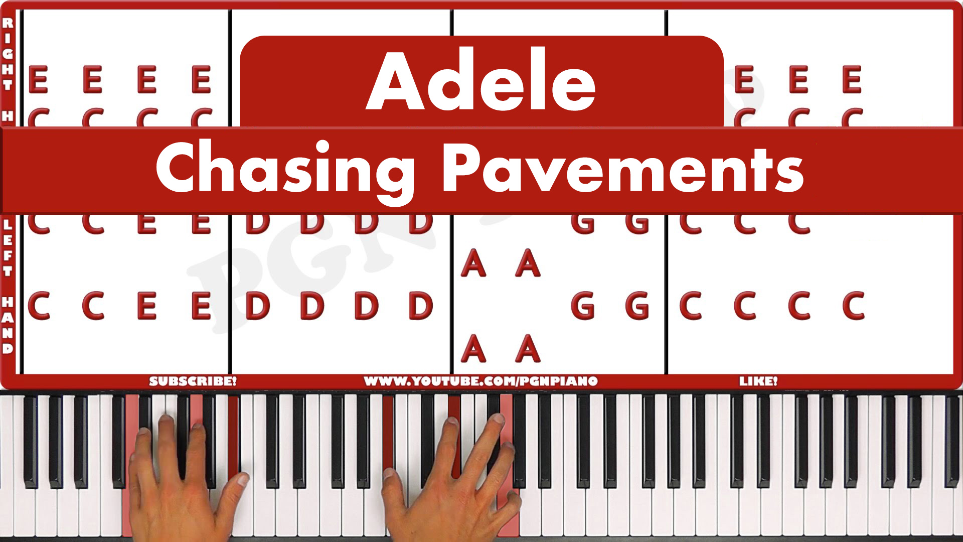 Adele – Chasing Pavements – Easy