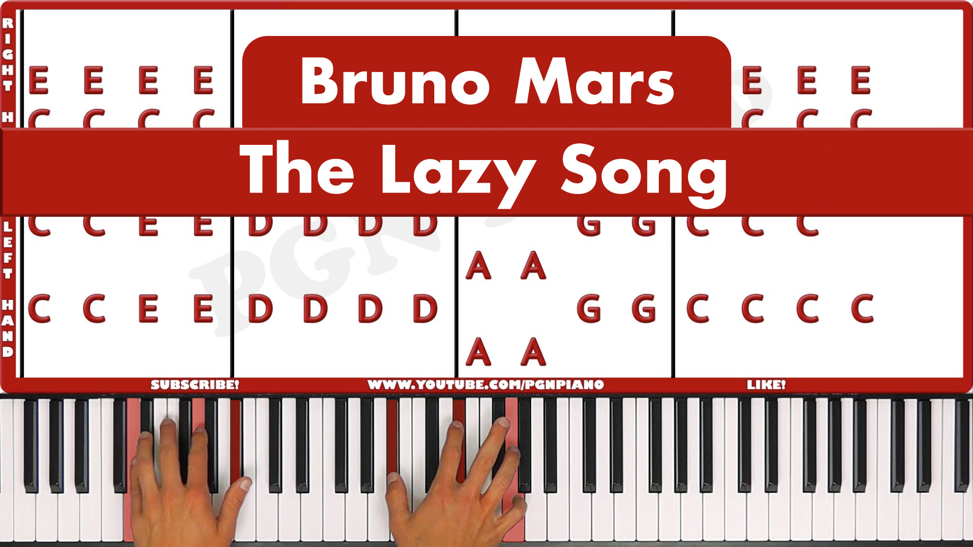 Bruno Mars – The Lazy Song – Easy
