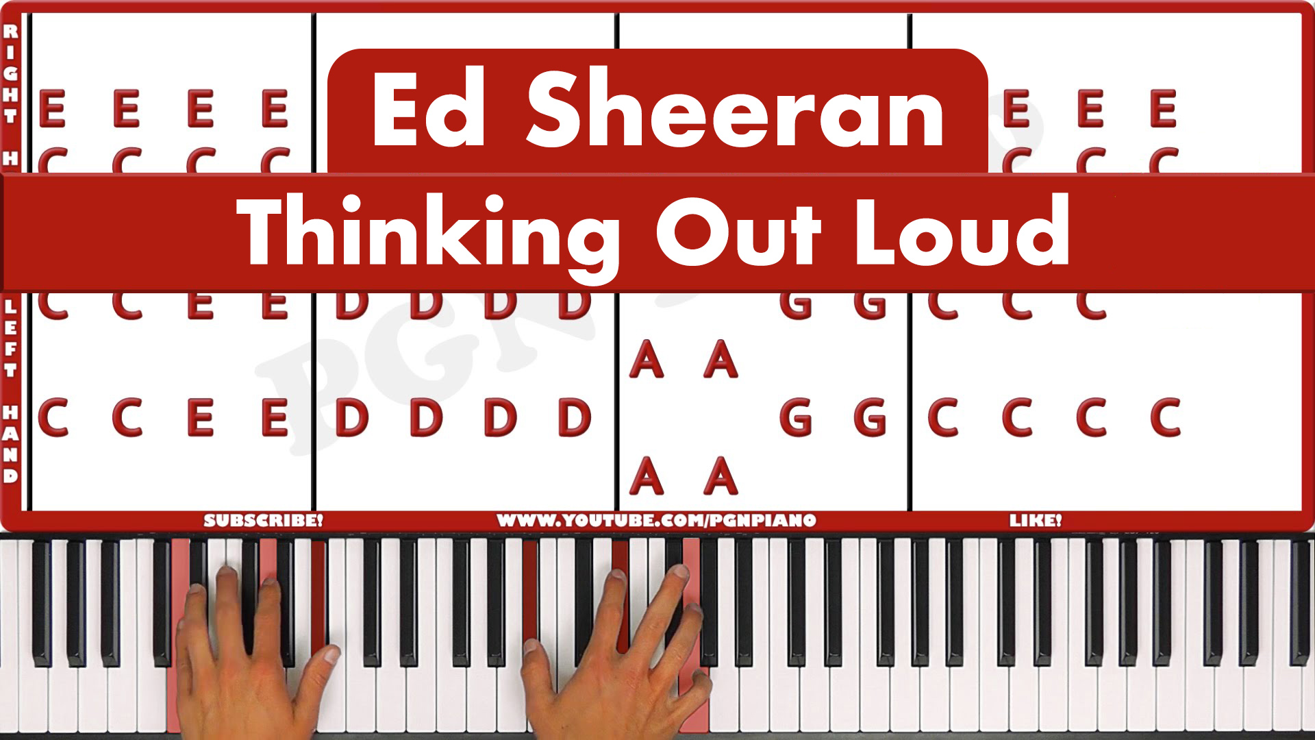 Ed Sheeran – Thinking Out Loud – Vocal