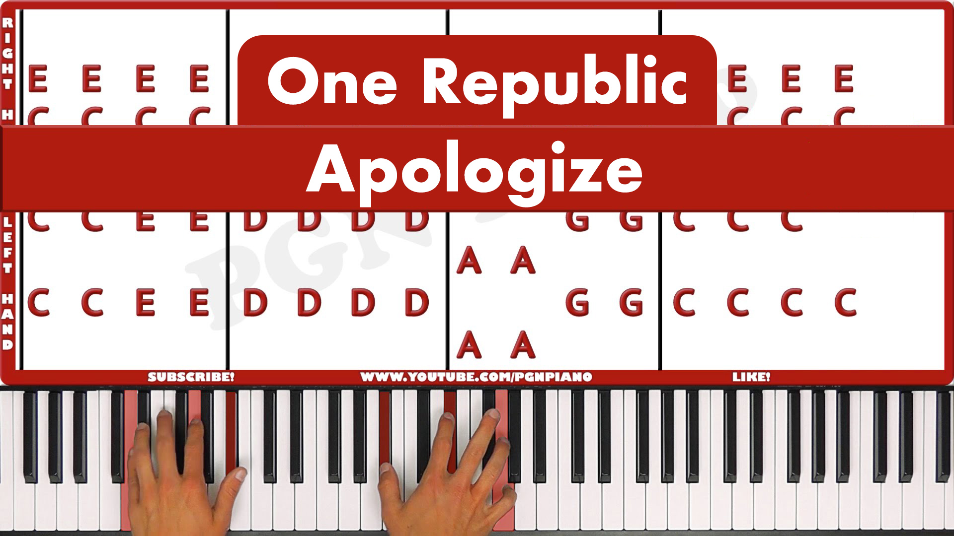 One Republic – Apologize – Original