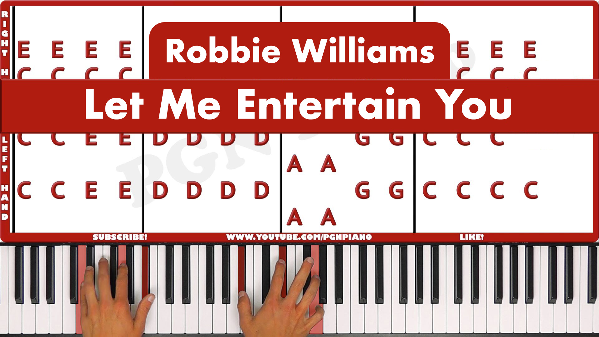 Robbie Williams – Let Me Entertain You – Easy