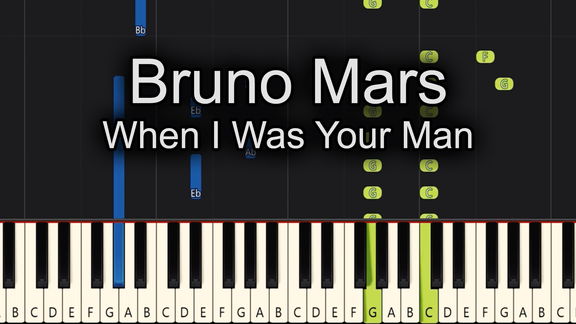 Bruno Mars – When I was Your Man – Advanced