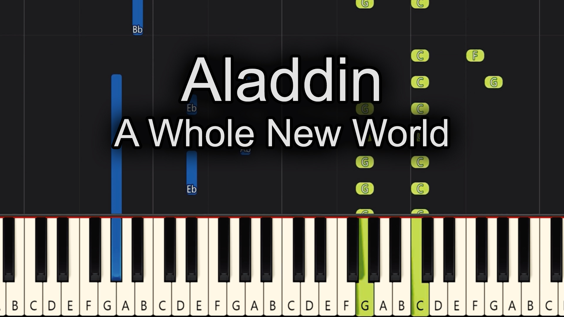 Aladdin – A Whole New World – Easy