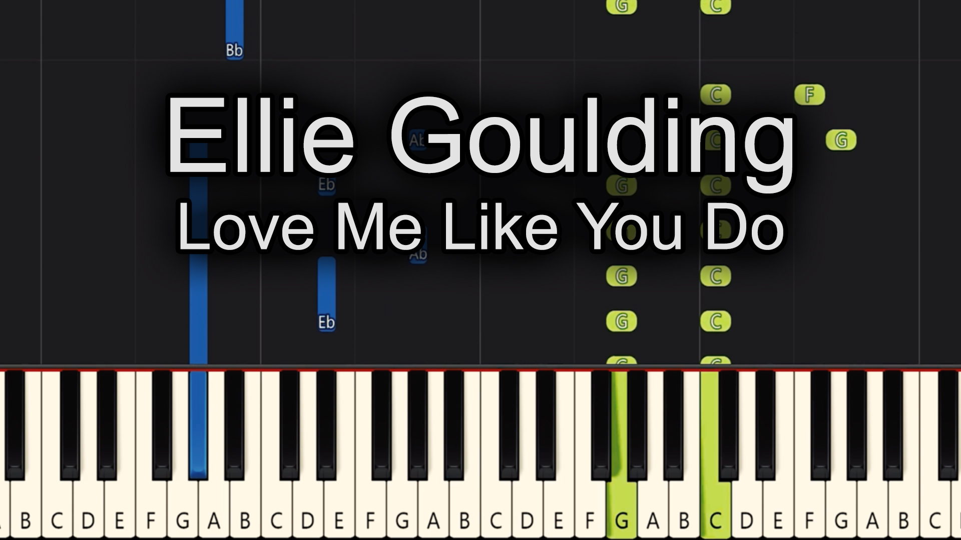 Ellie Goulding – Love Me Like You Do – Chords