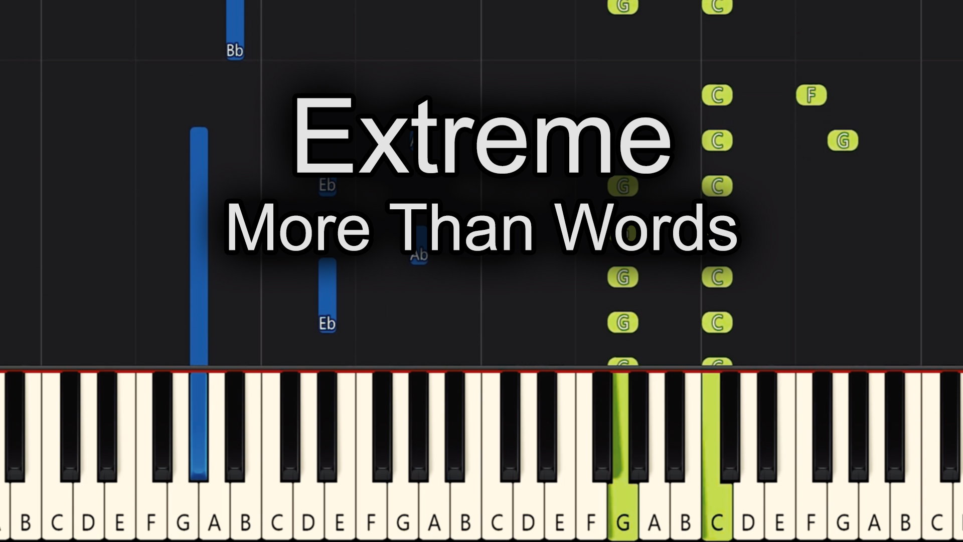 Extreme – More Than Words – Advanced