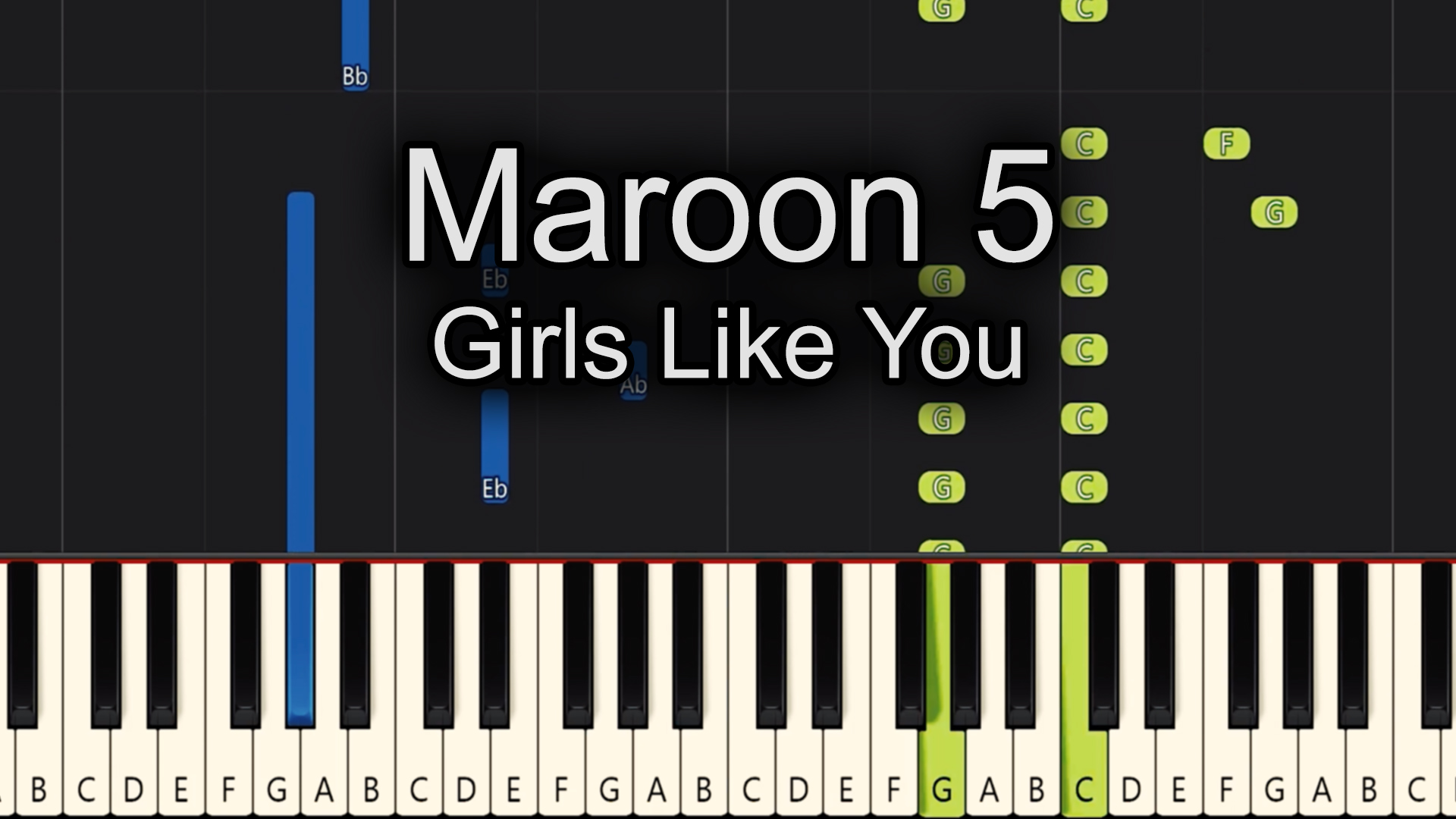 Maroon 5 – Girls Like You – Easy
