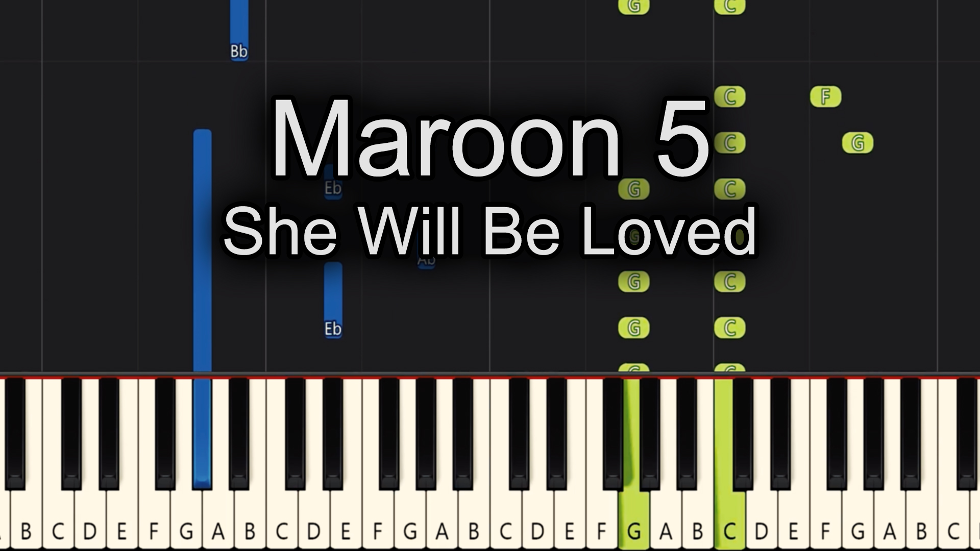 Maroon 5 – She Will Be Loved – Advanced
