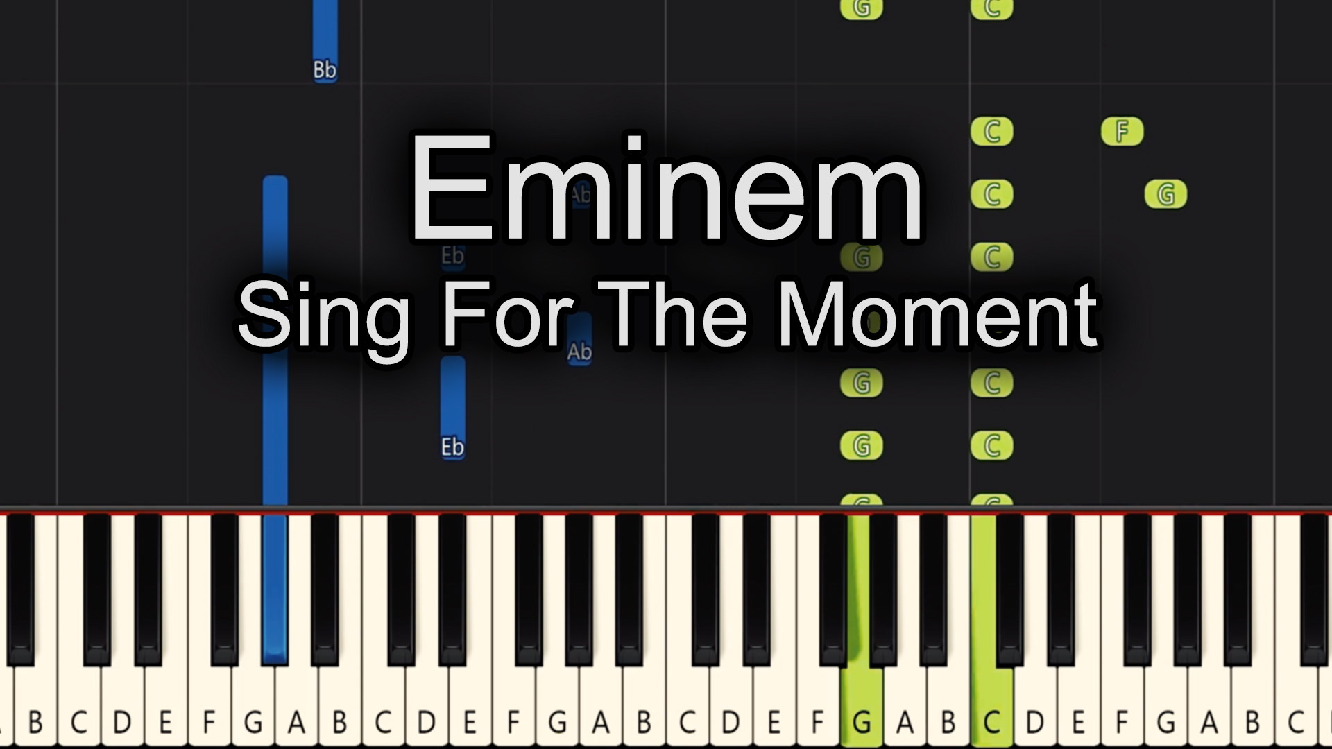 Eminem – Sing For The Moment – Chords