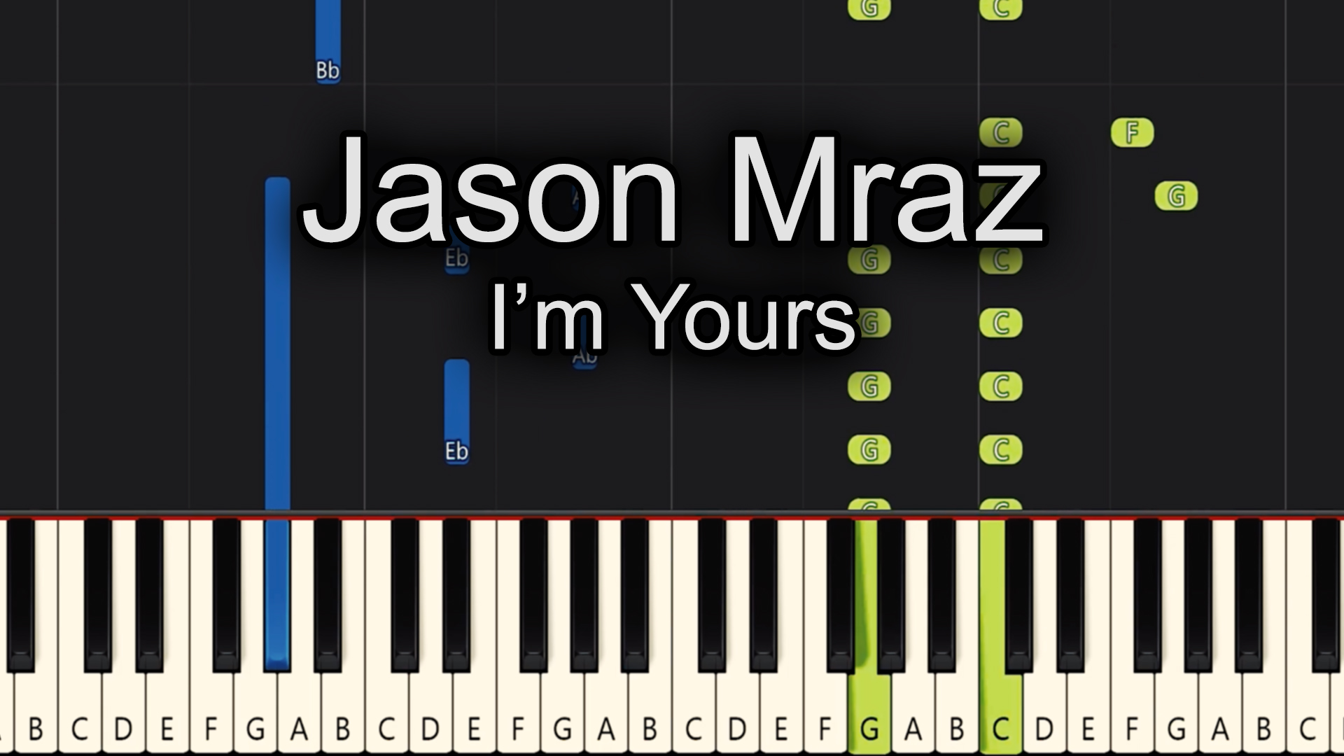 Jason Mraz – I'm Yours – Chords