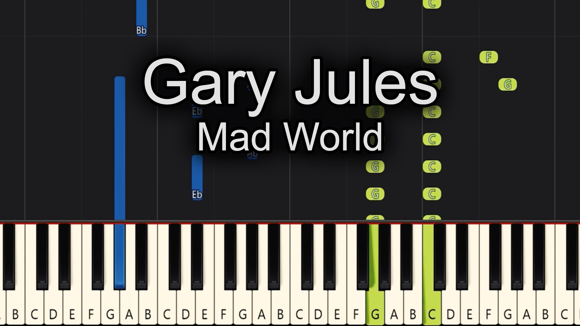 Gary Jules – Mad World – Chords
