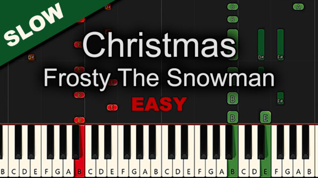Christmas – Frosty The Snowman – Easy