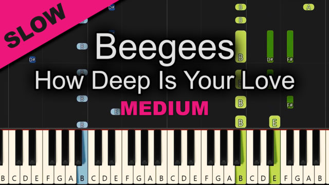 Beegees – How Deep Is Your Love – Medium