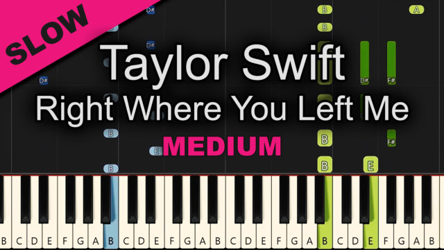 Taylor Swift – Right Where You Left Me – Medium
