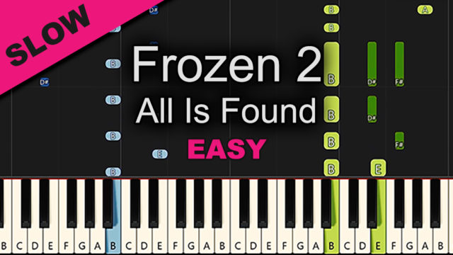 Frozen 2 – All Is Found – Easy