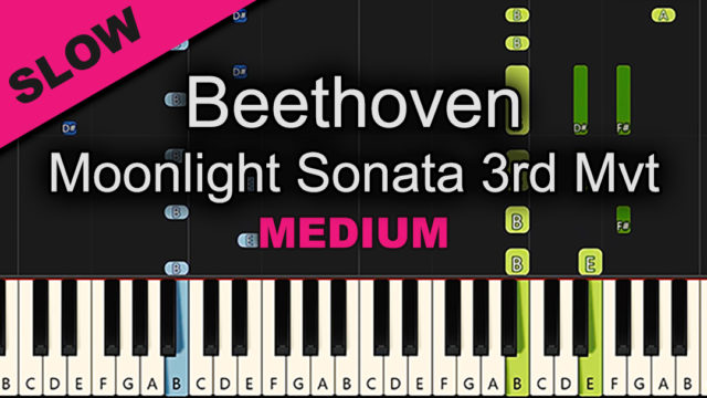 Beethoven – Moonlight Sonata 3 – Medium
