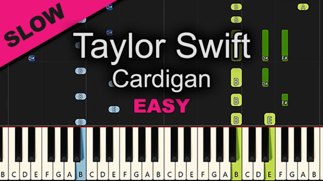 Taylor Swift – Cardigan – Easy