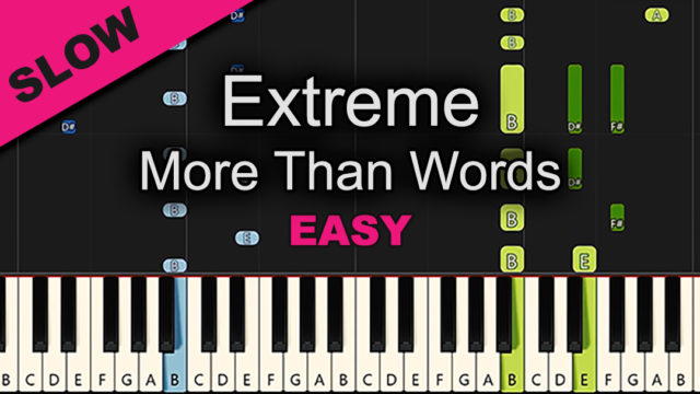Extreme – More Than Words – Easy