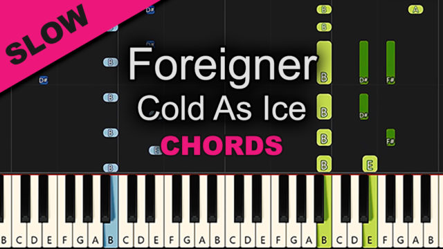 Foreigner – Cold As Ice – Chords