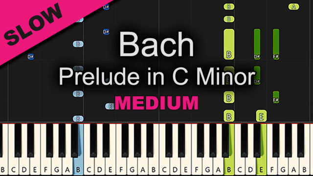 Bach – Prelude In C Minor – Medium