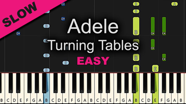 Adele – Turning Tables – Easy